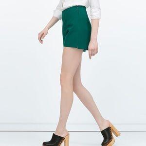 High Waisted Green Shorts - Zara